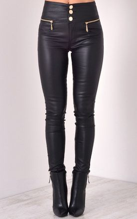 Gold Button and Zip Fastening