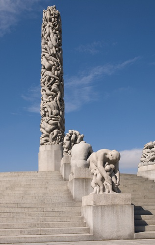 Part of the sculpture park at the Vigeland Museum in Oslo, Norway.