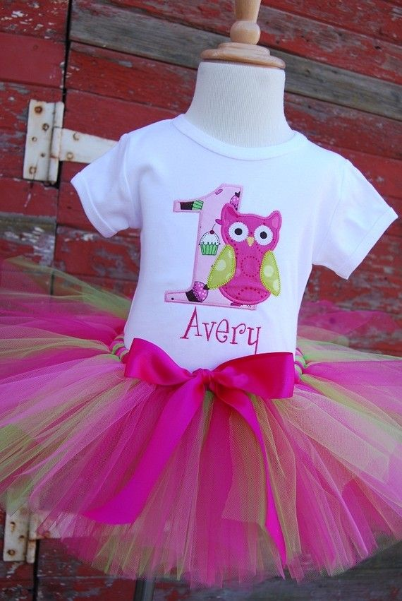 Owl First Birthday outfit