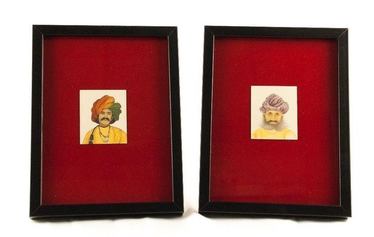 Antiguas miniaturas de Rajasthán sobre hueso