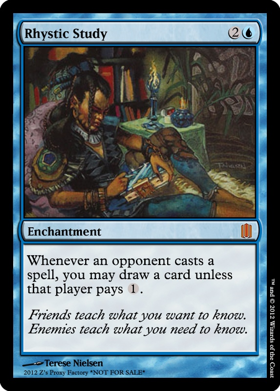 Rhystic Study | PCY $17.22 | $92.36 from MTG Prophecy