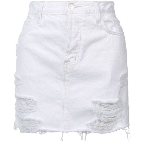 J Brand short denim skirt (3.969.715 IDR) ❤ liked on Polyvore featuring skirts, mini skirts, bottoms, white, j brand, short mini skirts, j brand skirt, short skirts and white skirt