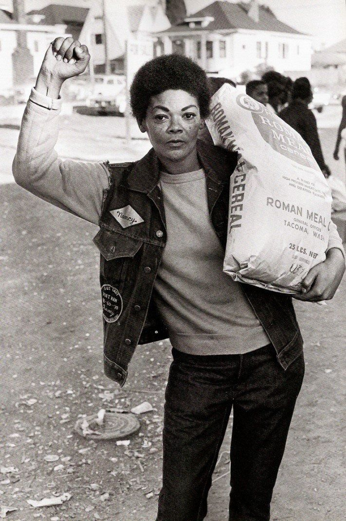 Black Panthers' Free Breakfast for Children' program (Oakland, 1971) -- (that's why we have the free and reduced meal programs in public schools now, thanks Black Panthers!)