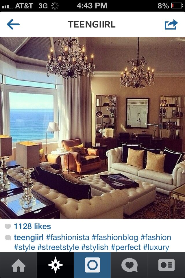 Amazing living room luxury hot classy rich life tumblr my future rich life pinterest for Downlight design living room
