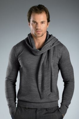 Soul Star Shephard Sweater - Large, Grey Men's Sweaters from UnderGear