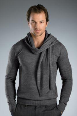 Soul Star Shephard Sweater - Large, Grey Men's Sweaters from UnderGear