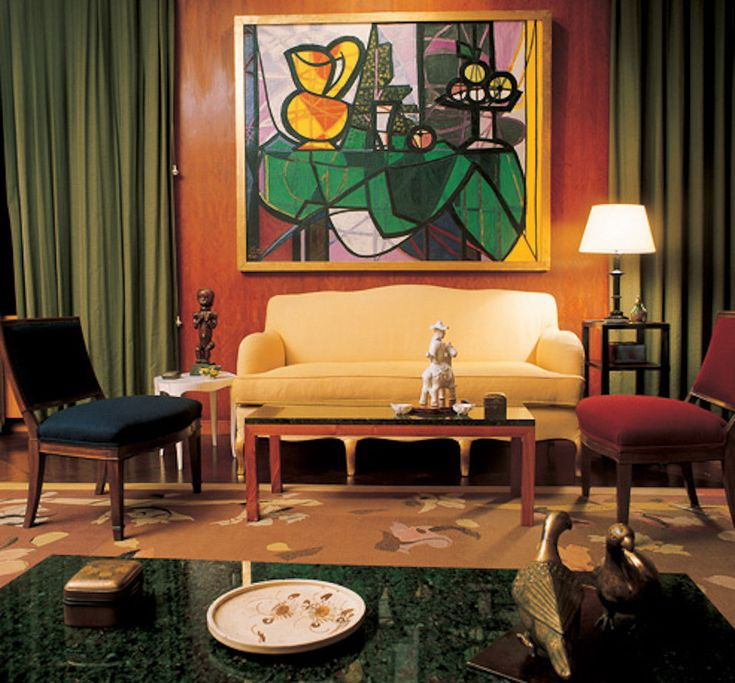 Designers Worked To Find A Happy Medium Between Modern Art And Period Furnishing Apartment Designed By Jean Michel Frank For Nelson Rockefeller In 1937