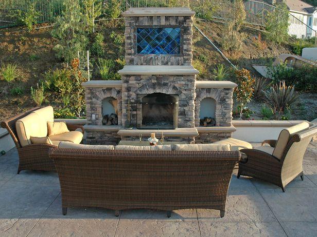 Outdoor Fireplace   Contemporary   Outdoors   Scott Cohen : Designersu0027  Portfolio : HGTV .