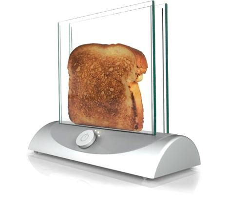 Cool Technology - Transparent Toaster - Need this in our break room. My student workers are always burning their food. This is more of a FUN technology that would be cool to watch.