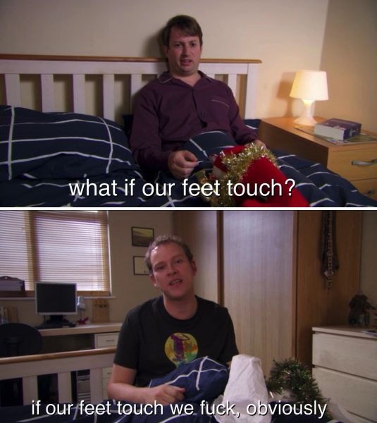 "The horror of accidental human contact. | 34 ""Peep Show"" Quotes That Sum Up Your Weird, Awkward, Boring Life"
