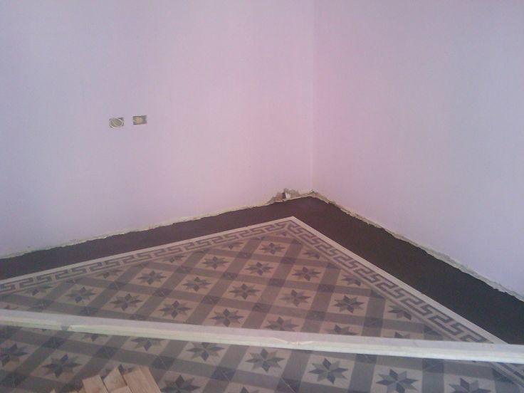 #pavimento in #cementine - prima del trattamento - finalista concorso #TrattatiDaRe 2011-12 - @floortreatment