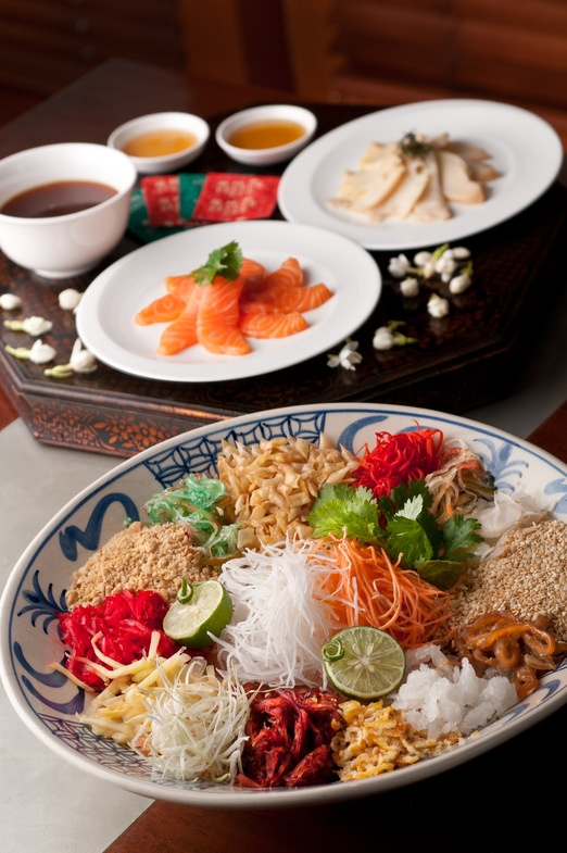 Appetizer and Yee Shang Salad, Photo courtesy of The Dharmawangsa Jakarta via The Jakarta Post Travel.