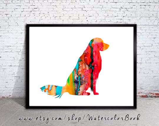 """Golden Retriever 10 Watercolor Print, Golden Retriever Art, Home Decor, dog watercolor, watercolor painting, Retriever art, animal print  Buy two Get one FREE! Special offer! Buy two print and get one free(of the same size). Send me the links of the 3 posters that you have chosen in the """"notes to seller"""" section You will receive the three prints that you have selected for the price of 2.   Here you will find archival art prints of my original watercolor digital illustrations  Printed…"""