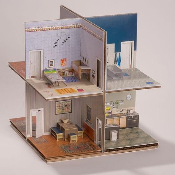 Libro pop-up House di MakeAnythingPopUp su Etsy