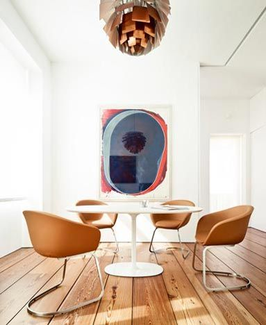 Nice art #diningroom tables, chairs, chandeliers, pendant light, ceiling design, wallpaper, mirrors, window treatments, flooring, #interiordesign banquette dining, breakfast table, round dining table, #decorating