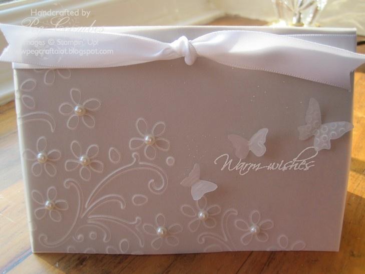 SU Elegant Bouquet E F, Beautiful Wings embosslit, Cardstock Vellum
