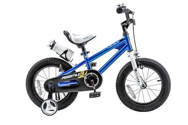 Childrens Bike Bikes Girls Boys Kids BMX Freestyle 16 Inch Training Wheels Blue #Royalbaby