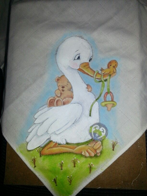 Cegonha pintura en tela sabanas de bebe infantiles - Pintura en tela dibujos ...