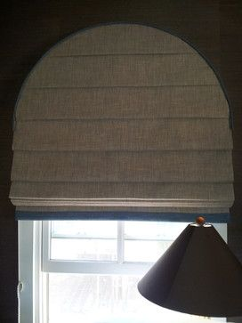 Arched Window Roman Shade - contemporary - Living Room - Los Angeles - P&D Window Fashions