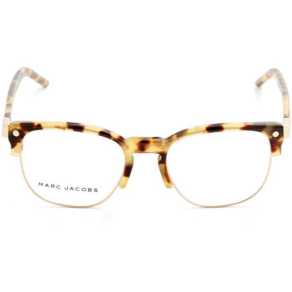 Marc Jacobs Brown 23 Glasses (£155) ❤ liked on Polyvore featuring accessories…