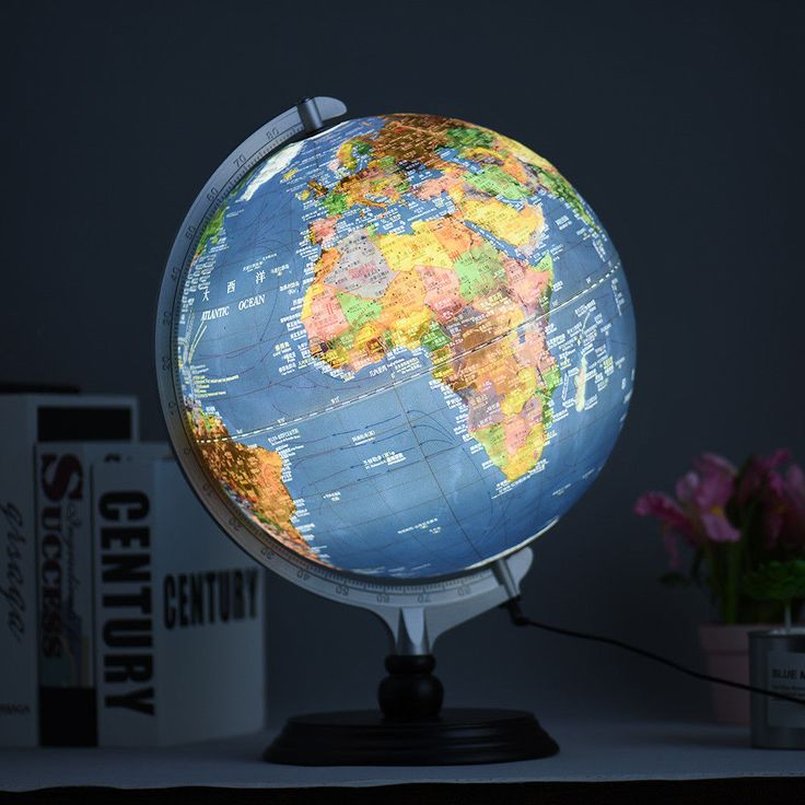 Educational LED Tabletop World Globe Earth Display with Stand 2 in 1 USB Type  #Unbranded