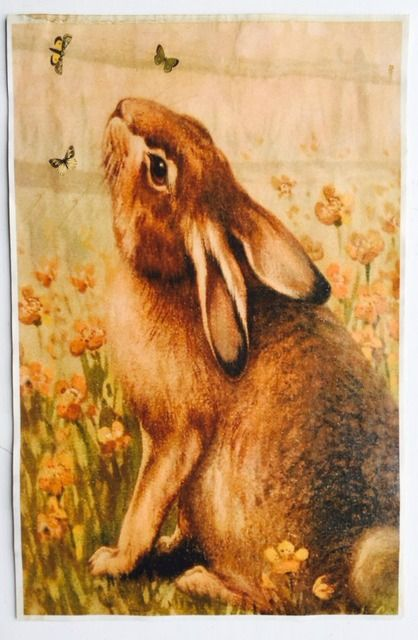 """Rabbit & Butterflies Vintage Aged Papers 11"""" x 17"""""""