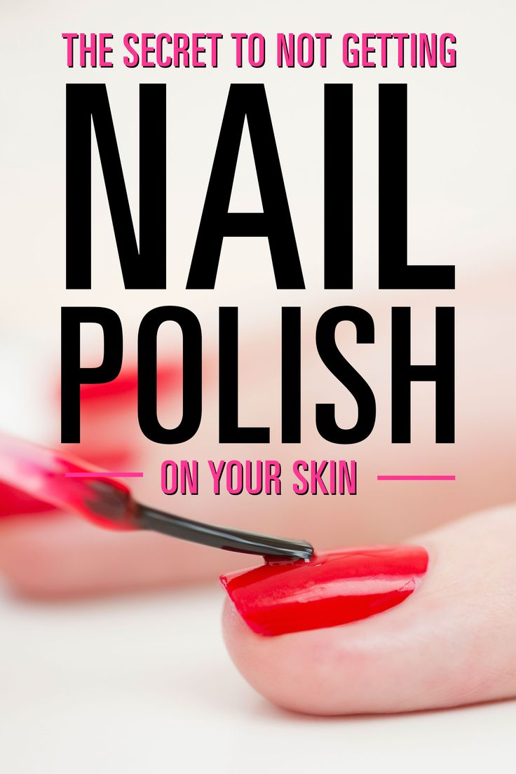 Painting your nails at home is a cost-effective way to get a great manicure, but some (OK, most) people have a seriously tough time keeping the polish inside the lines rather than all over their cuticles and fingers. Luckily, there's a foolproof way to avoid that.