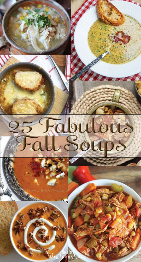 25 Fabulous Fall Soup Recipes - These are some of the best ever soup recipes! #Soup #Recipe #Soup Recipes
