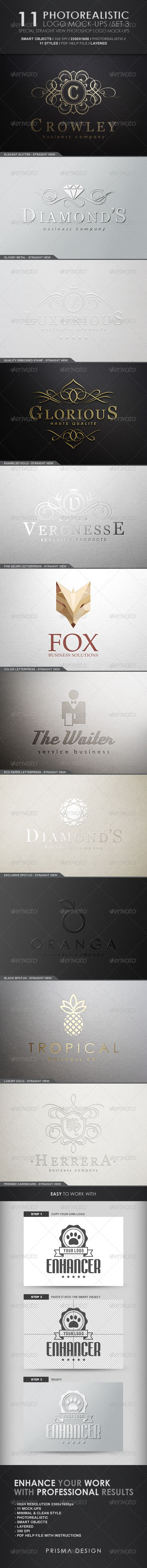 Improve the way you present your logo, here is a small selection of mockup to impress your customers.
