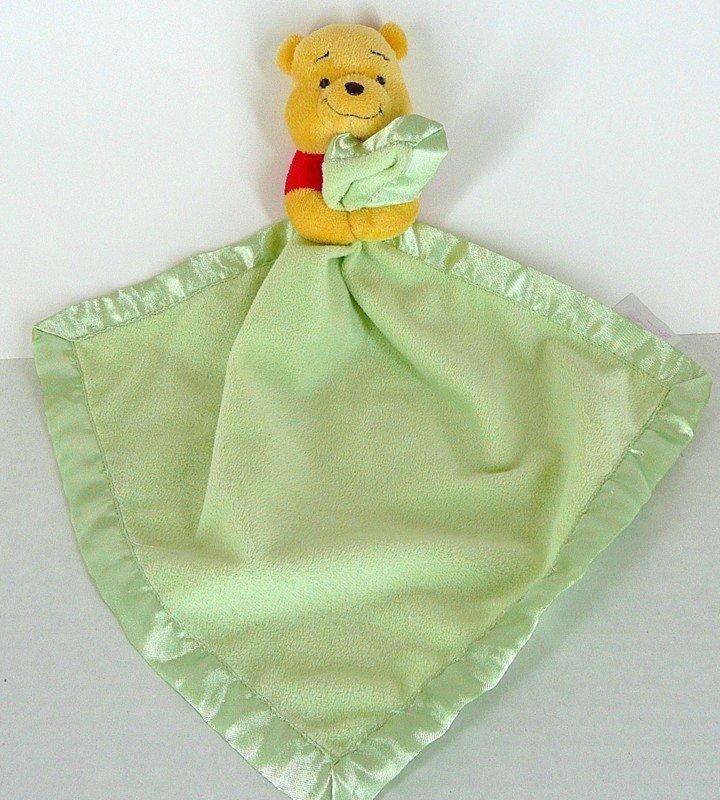 Details About Disney Winnie The Pooh Green Plush Satin