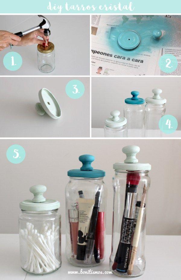 diy frascos o tarros de vidrio decorados #tarros #diy #frascos #reciclado…