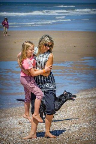 Queen Maxima and her youngest daughter Princess Ariane of The Netherlands pose for the media at the start of their summer holidays at the beach of Wassenaar, The Netherlands, 10 July 2015.