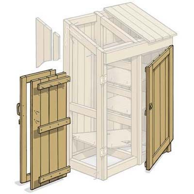 Illustration: Gregory Nemec | thisoldhouse.com | from How to Build a Garden Tools Shed