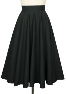 The retro skirt you'll want to twirl in all year long, the Circle Skirt, is now available in black poplin.