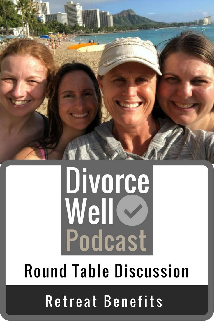 Retreats are an excellent way to re-energize, re-focus, create collaborations, foster creativity, plan, dream, and problem solve. Our recent business retreat in Hawaii was extraordinary. Check out this episode to hear about our experiences and our takeaways! #divorce #divorcewell #retreat #businessretreat #girlboss #womeninbiz