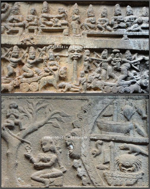 This temple has intricate carvings on its four sides depicting the entire Ramayana and Mahabharata. Western Ghats: Nilakanteswara temple - Jammatige Agrahara, Hariharapura