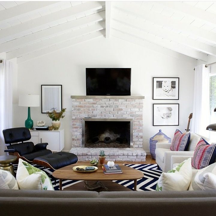 A Simple Beautiful Living Room From Studiomcgee Instagram With Rugs Usa Homespun Chevron Rug