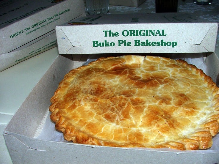 The original buko pie of Laguna, Philippines. I had this exact pie its sold on the bus at different and its so good. _Melody