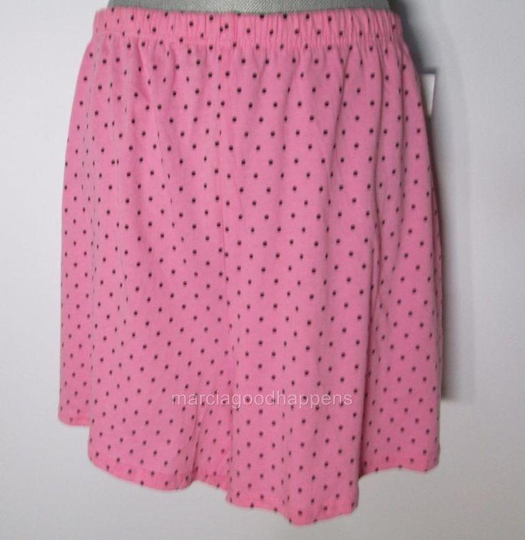 New Charter Club Womens Pajama Shorts Pink with Dots 3XL Sleepwear #CharterClub #LoungePantsSleepShorts #Everyday