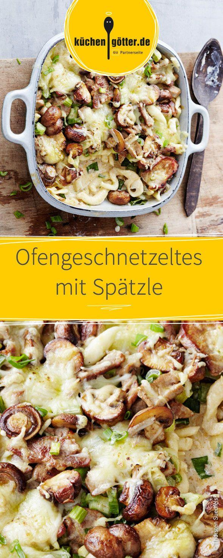 Innerhalb von 20 Minuten fertig und damit perfekt für den schnellen Feierabend: Ofengeschnetzeltes mit Spätzle!