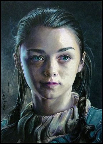 Arya Stark of Winterfell by David Desbois  watercolor pencil/marker  WIP and detailed Tutorial available for those interested on my deviantartpage  www.daviddeb.deviantart.com