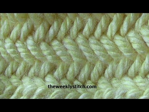 Herringbone Stitch in the Round - YouTube