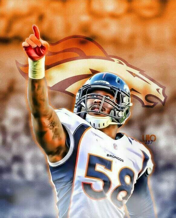 Von Miller another great Denver Bronco..Go Broncos...WIN!!!