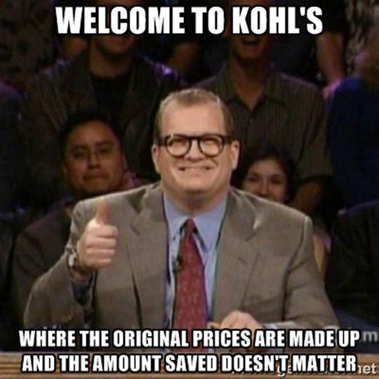 Kohl's humor shopping