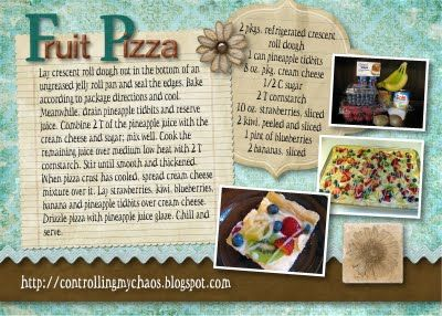 Controlling My Chaos: Fruit Pizza