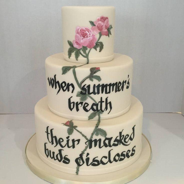 Shakespeare Wedding Cake