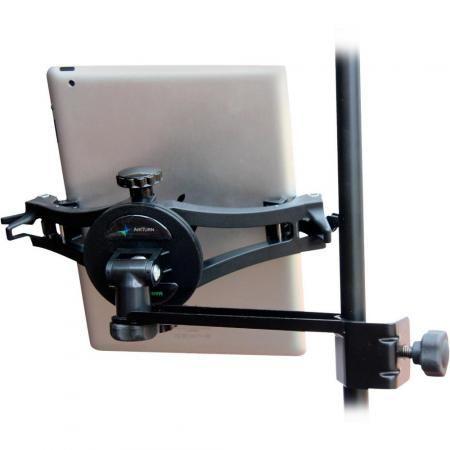 AirTurn Manos met Side Mount Clamp tablet houder