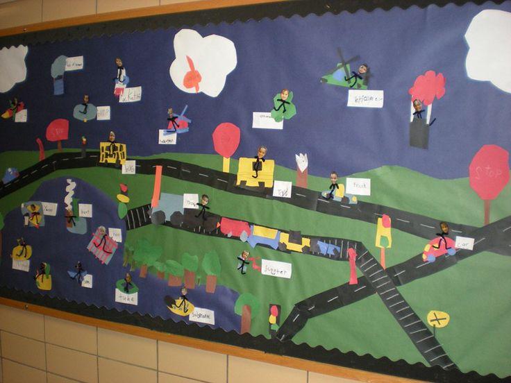transportation bulletin board - fun!