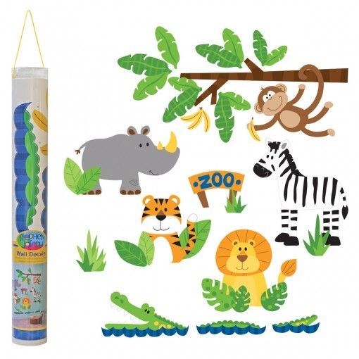 Zoo Wall Decals Possum Pie Stephen Joseph Arts and Crafts, Gifts and Toys