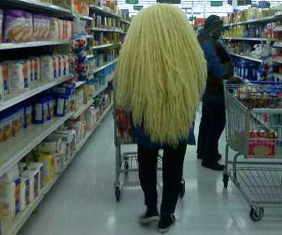 Walmart Weave or world's oldest Chia head!